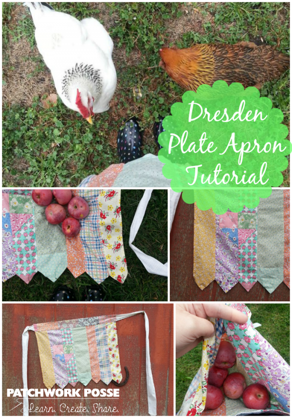 dresden plate apron tutorial