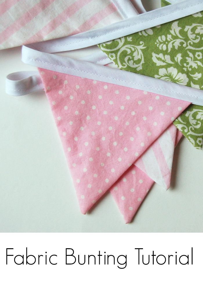 Fabric Bunting Tutorial