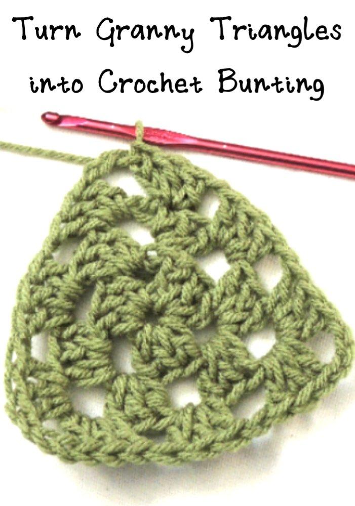 granny triangle crochet bunting