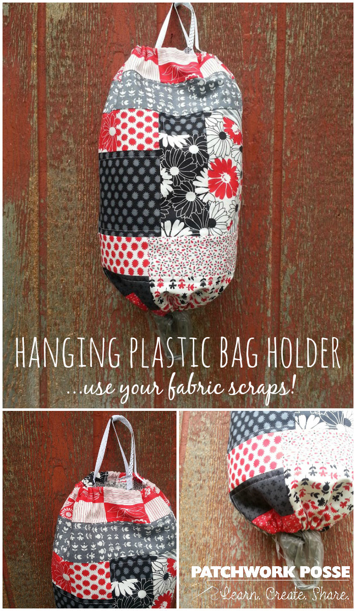 hanging plastic bag holder tutorial