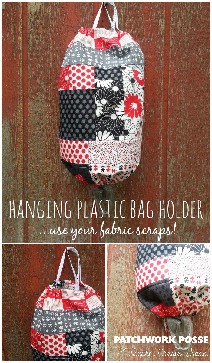 hanging plastic bag holder tutorial
