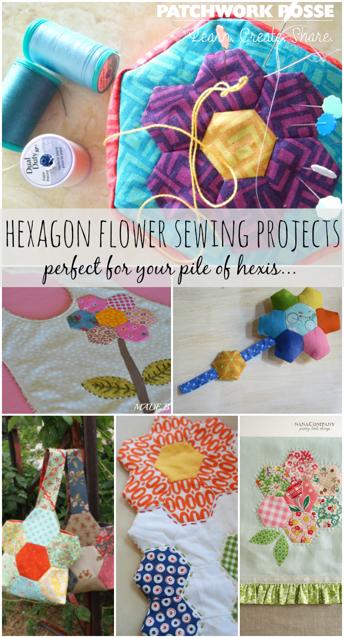 hexagon flower sewing projects