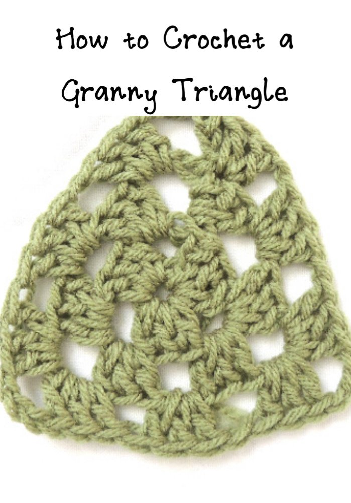 how to crochet a granny triangle