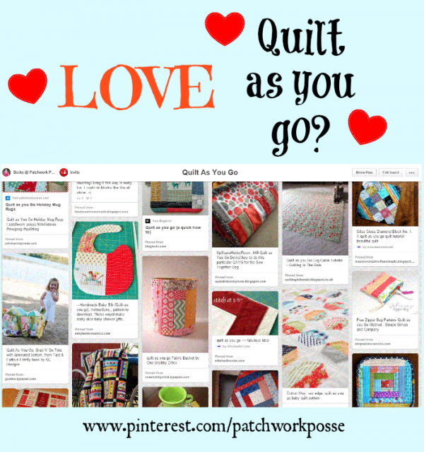 quilt as you go inspiration