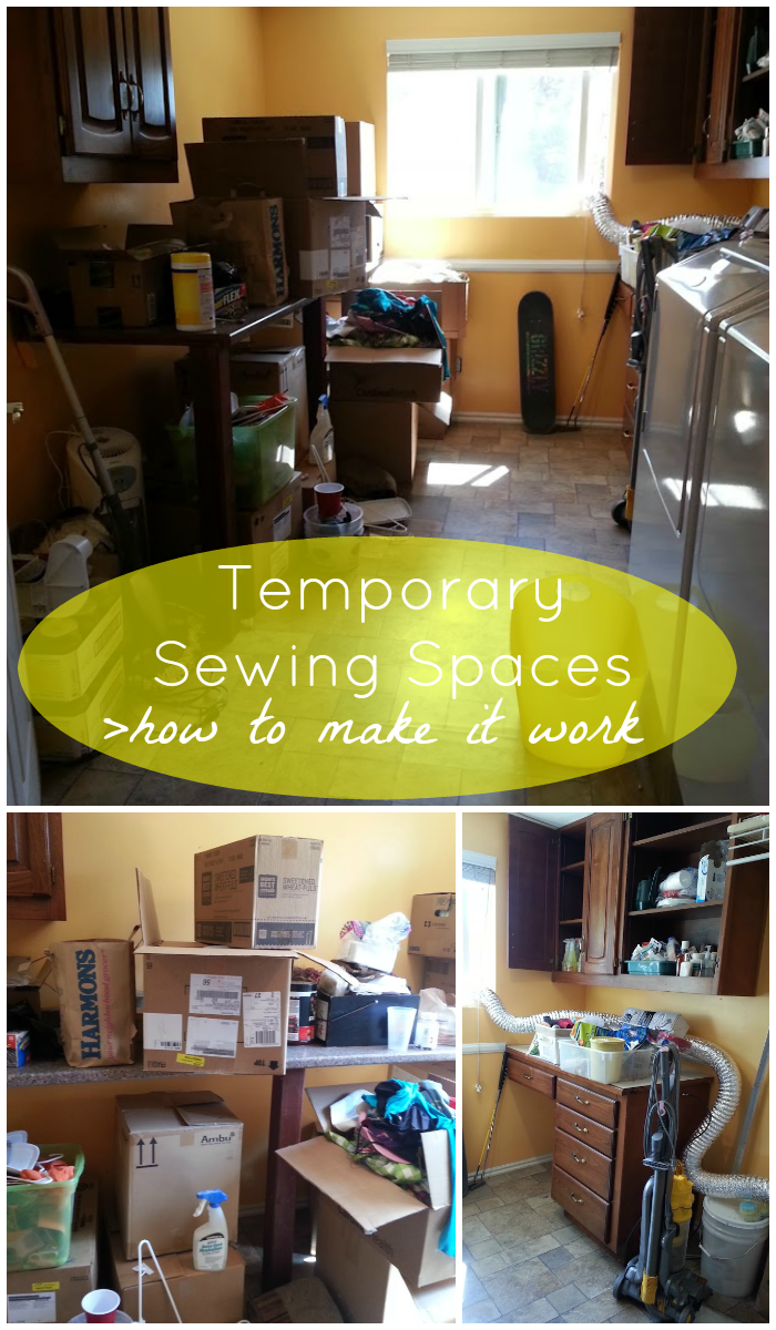 sewing spaces that are temporary - how to make them work