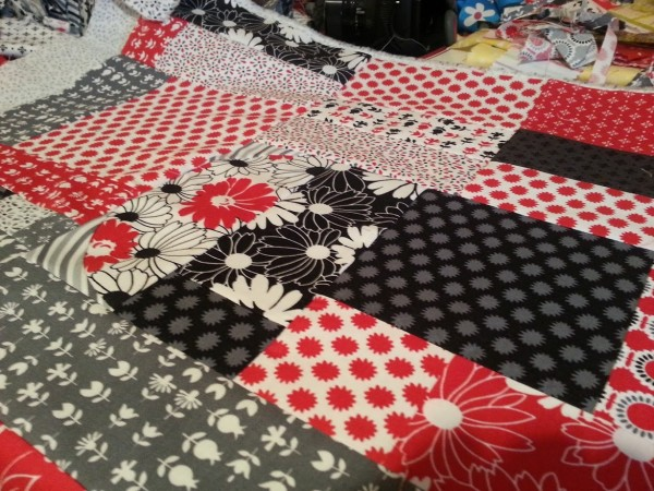 sewing your scraps together