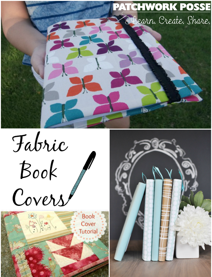 Fabric Book Cover Pattern Free : Fabric book covers