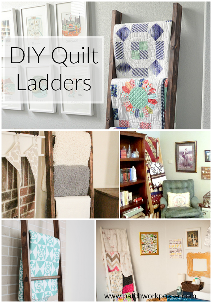 diy quilt ladders tutorial and how to I want to make one!