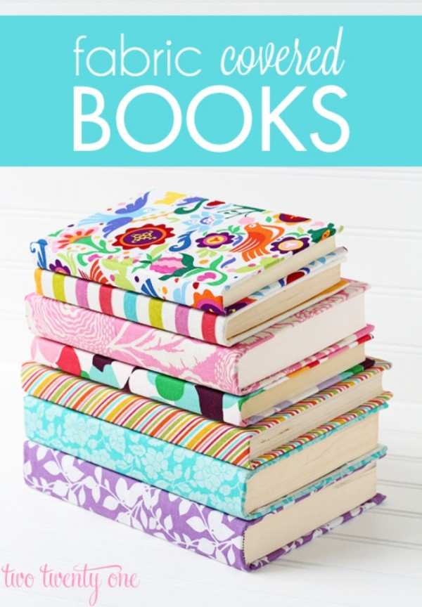 How To Make A Fabric Book Cover ~ Fabric book covers