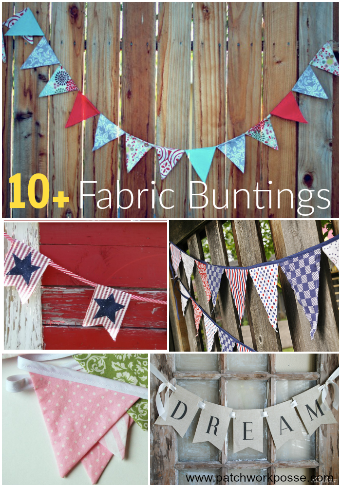 10 + Fun Fabric Buntings Sewing Projects