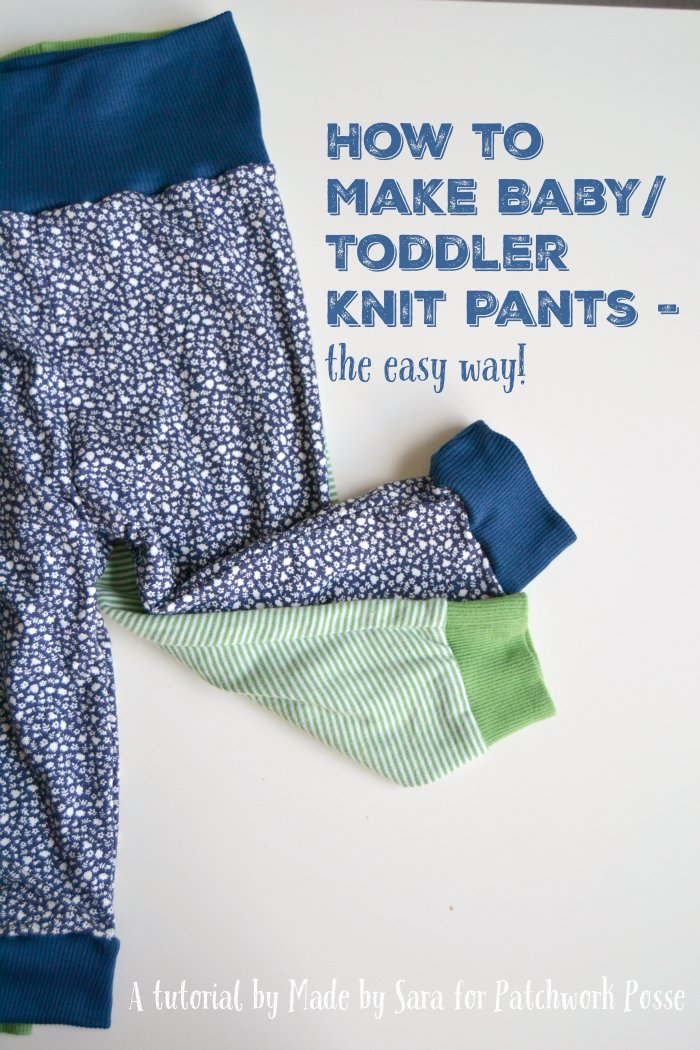 Knitting Patterns Toddlers Trousers : How to Make Baby Knit Pants - a Tutorial