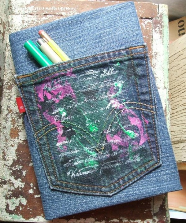 jeans with pocket book cover