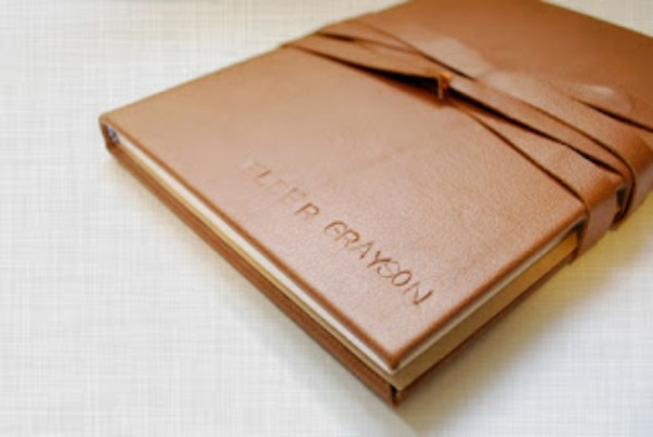 leather fabric book cover