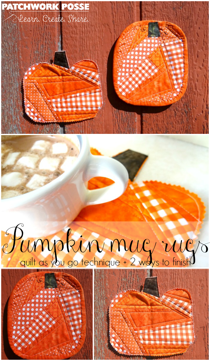 pumpkin mug rugs tutorial