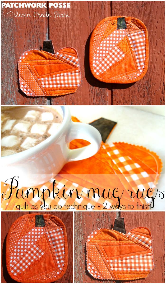 pumpkin mug rugs tutorial