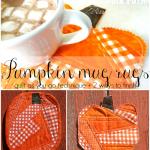 Fall Pumpkin Mug Rug Tutorial