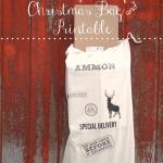 Don't Open Till Christmas – Gift Bag Tutorial and Printable