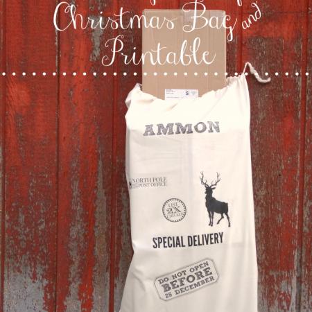 Christmas gift bag and printable - Do not open before Christmas