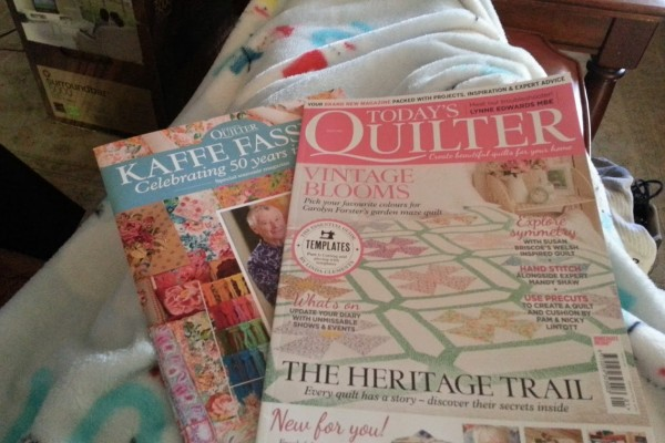 lounging with my todays quilter magazine
