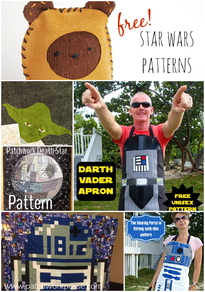 free star wars patterns - great for mega fans! plushies, quilts and more!