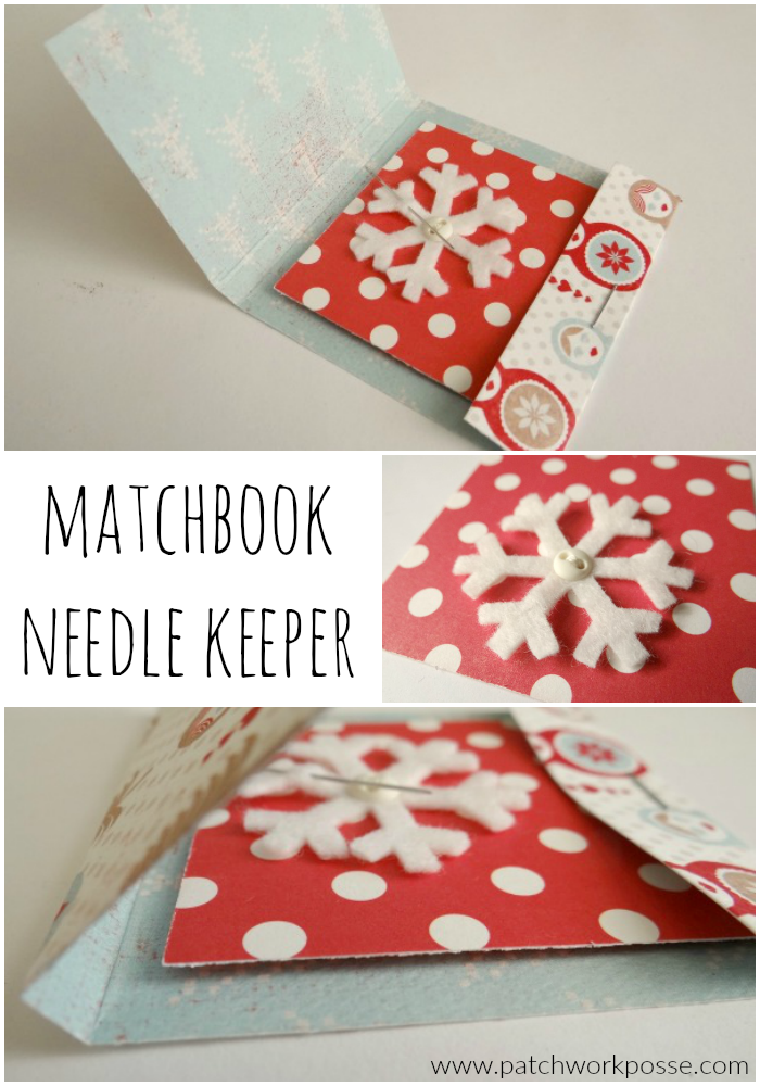 matchbook needle keeper tutorial - great for gifts or a make and take