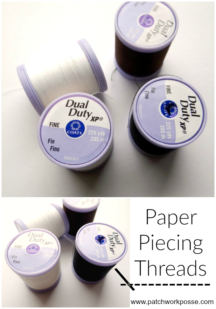 paper piecing thread how to use
