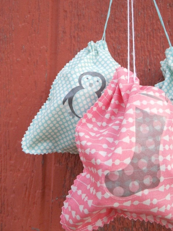 simple gift bags to sew