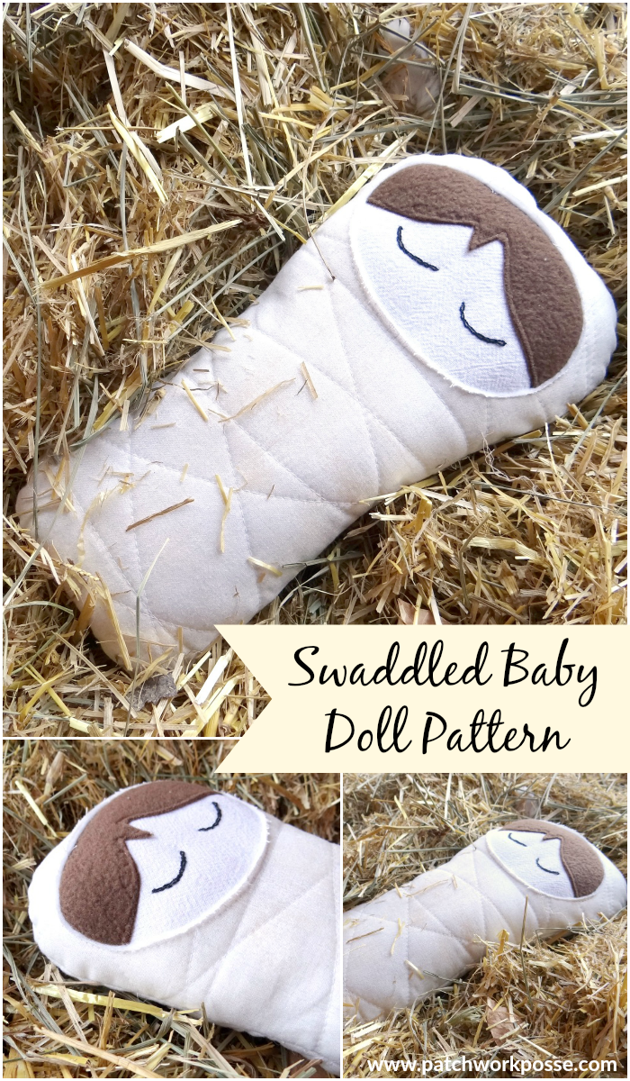 swaddled baby doll pattern