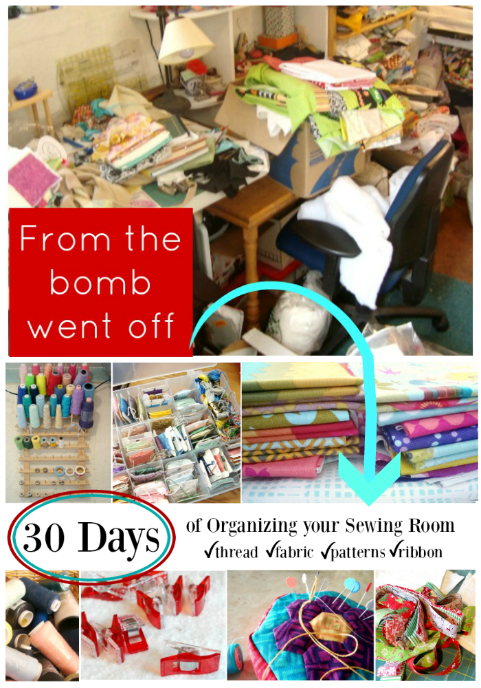 30 days of organizing your sewing room