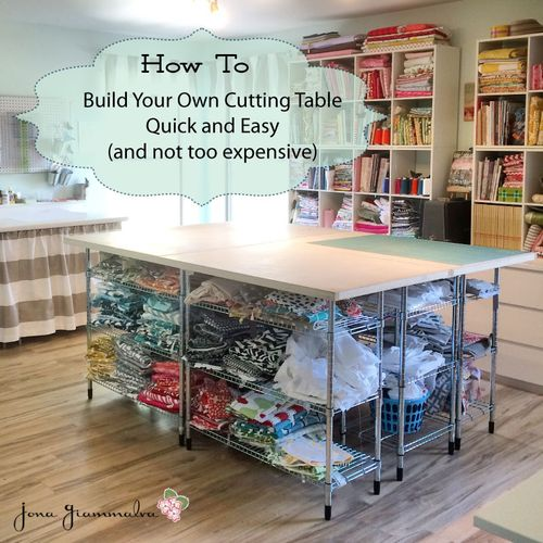 Diy craft table - How to build a garage cheaply steps ...