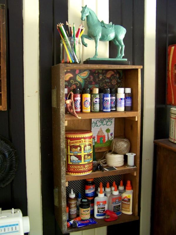 drawer with shelf