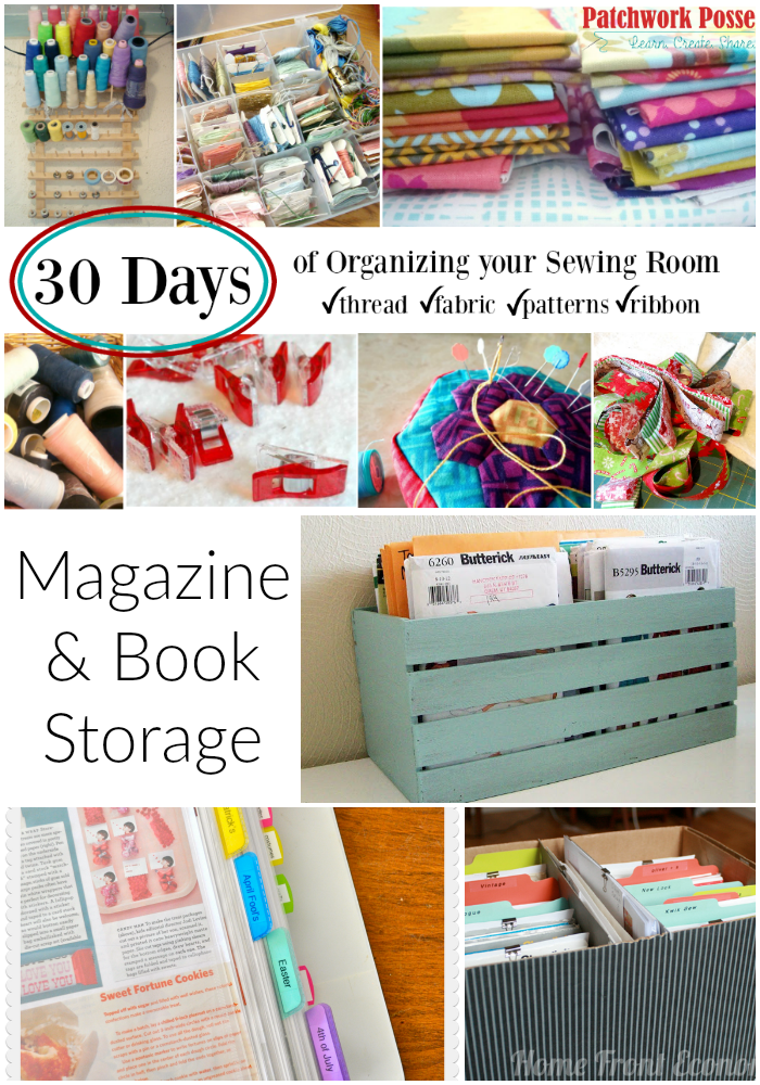 diy craft magazine magazine and book storage