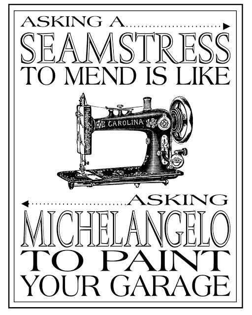 seamstress printable black