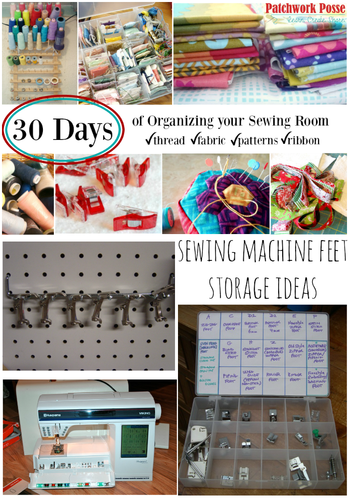 sewing machine feet storage ideas 30 days of organizing
