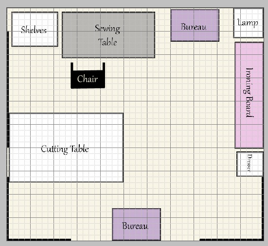 Sewing room layout ideas Plan your room layout free