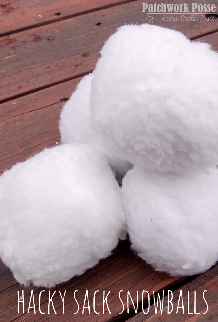 hacky sack snowball tutorial