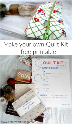 make your own quilt kit with free printable