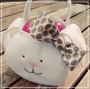 bunny easter sewing basket
