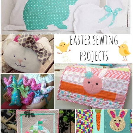 Easter sewing projects for your home. Add some fun Spring colors!