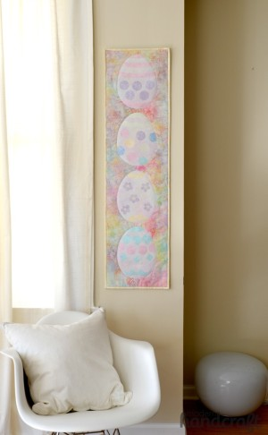 Easter Egg Sewing Wall Hanging