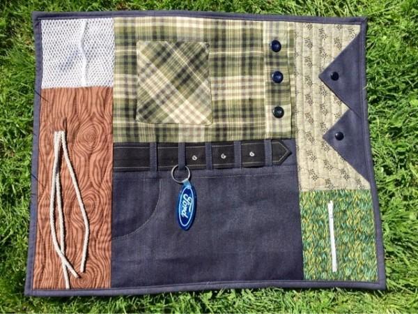 fidget quilt for boys