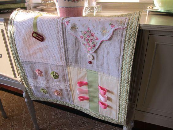 fidget quilt with hankie