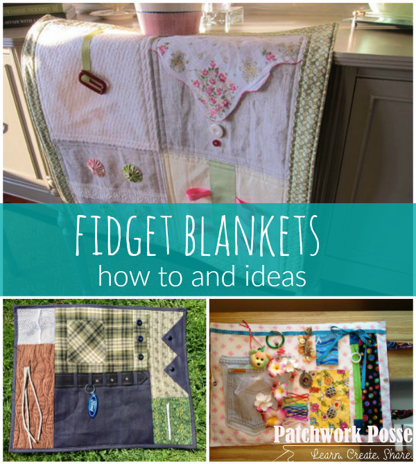 Fidget quilts are used for Alzheimer, dementia, and even little kids who need something to do with their hands.  This fidget quilt tutorial will get you started. quilting | sewing | tutorial