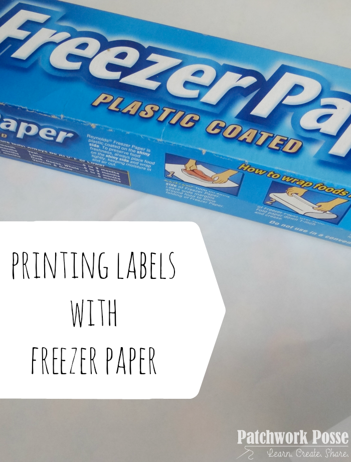 How to use Freezer Paper to Print on Fabric