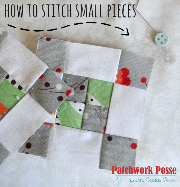 how to stitch mini pieces - get those seams right and your fingers out of the way. Learn a few tips I've picked up this last year while sewing more than a few small projects.