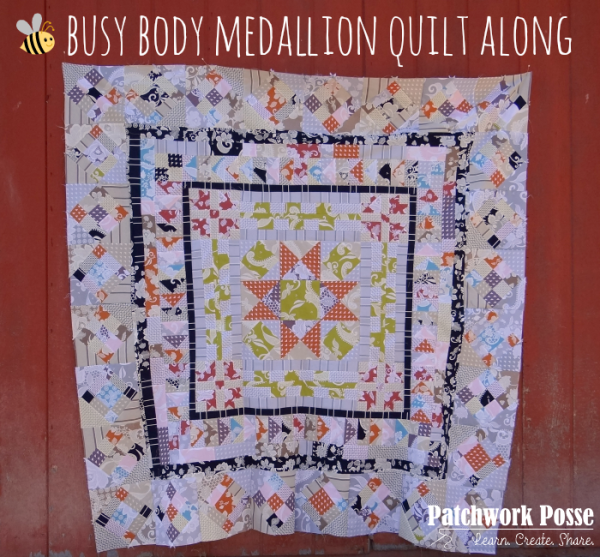 medallion style quilt along - free pattern