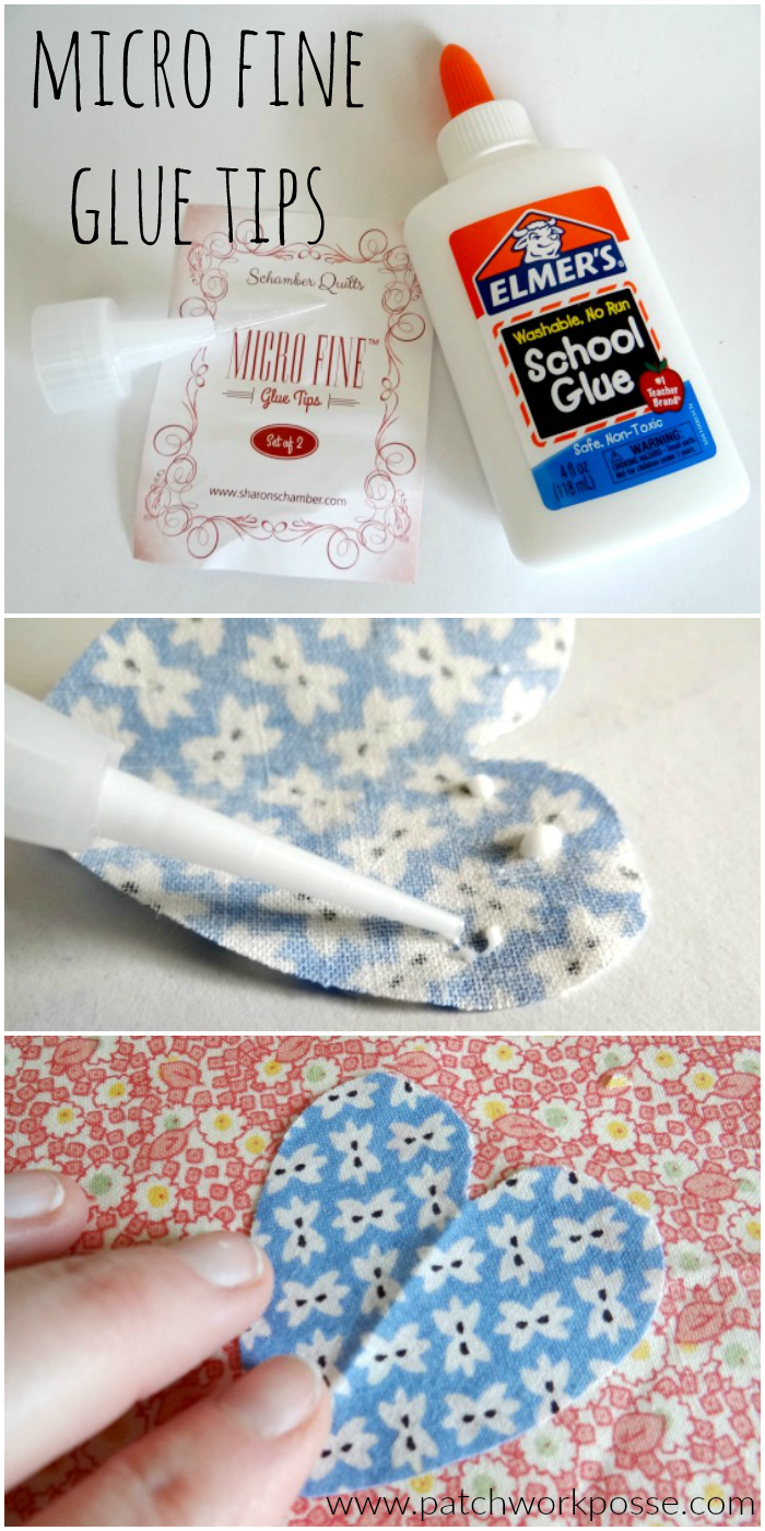 fine point glue tips - these are perfect for tacking down your applique pieces!