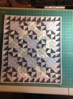 scrap broken dishes doll quilt