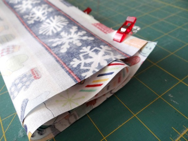 fold the outer piece up and clip