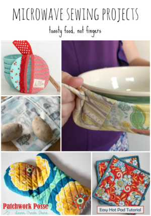 microwave sewing projects - toasty food not fingers. Quick projects - great for beginners too!